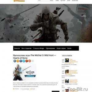 Автонаполняемый игровой сайт