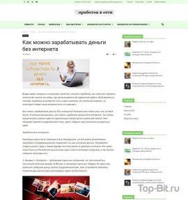 готовый Автонаполняемый сайт о заработке в интернете