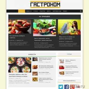 Купить готовый Автонаполняемый кулинарный сайт Гастроном