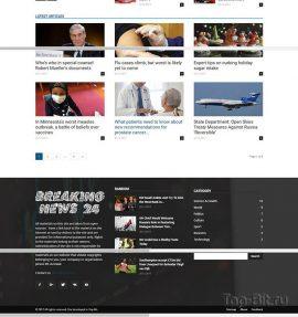 Купить готовый Автонаполняемый новостной портал Breaking news 24 (English)