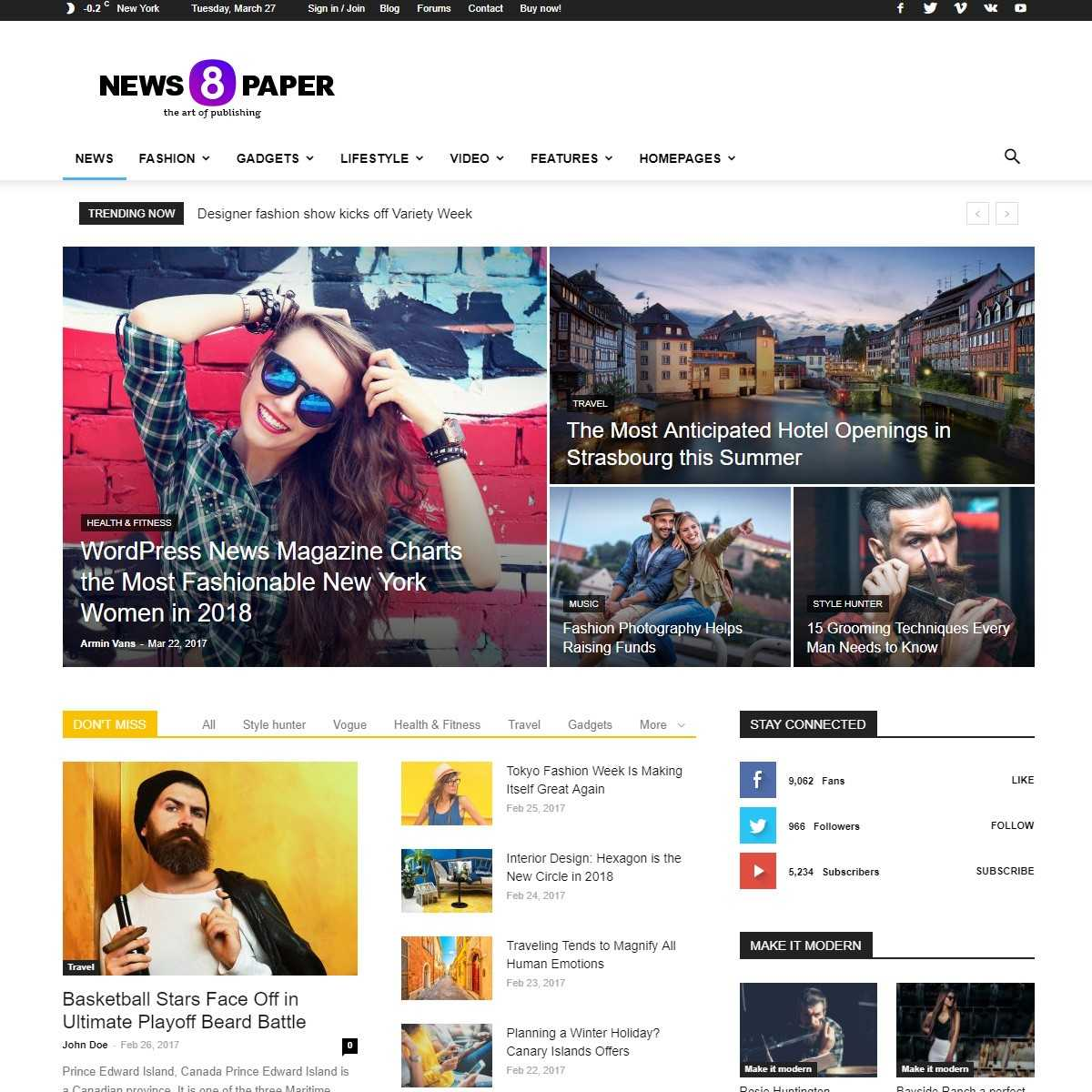Шаблон NewsPaper