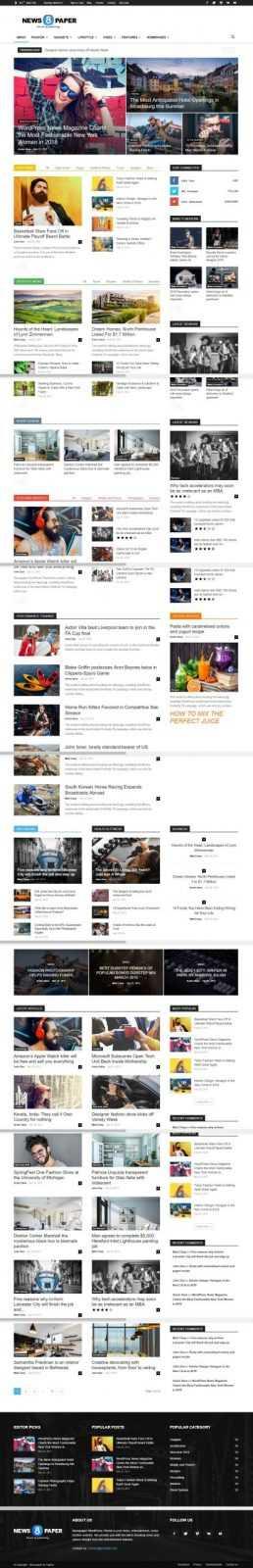 Шаблон NewsPaper top-bit