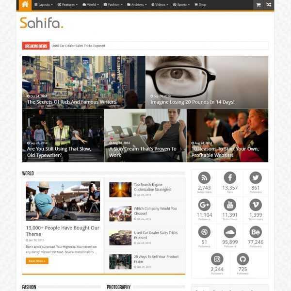 Шаблон Sahifa на кнопку top-bit