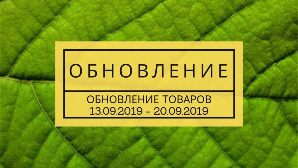 Обновление товара за 20.09.2019