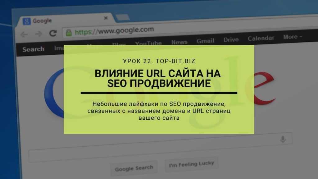 Влияние URL на продвижение